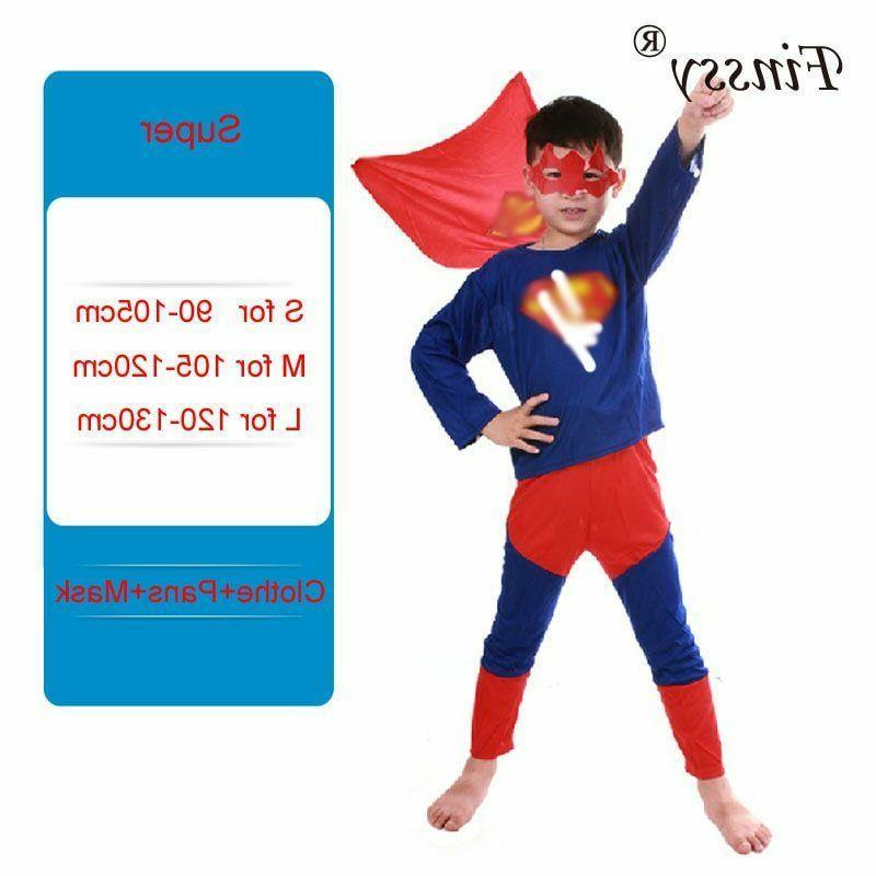 Halloween Dress Kids Boy Spiderman Costume Superhero Cosplay