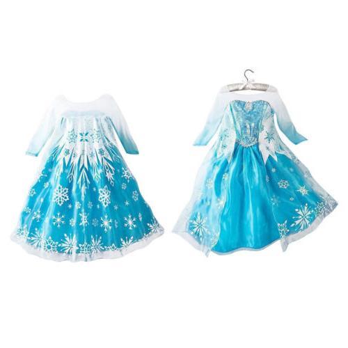 Kids Girls Elsa Dress Princess
