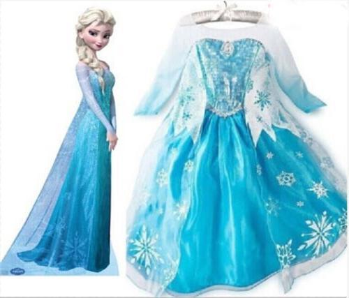 Kids Girls Dress Queen Costume Party