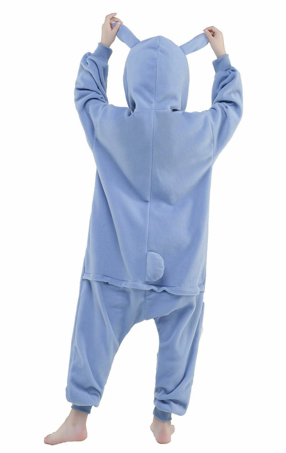 NEWCOSPLAY One Piece pajamas Cosplay Costume, Blue Stitch