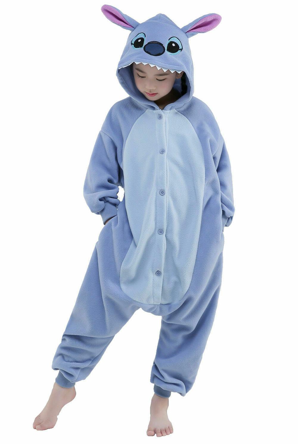 halloween kids plush one piece pajamas cosplay