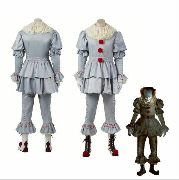 Halloween Pennywise Clown Chapter Men Kids Costume