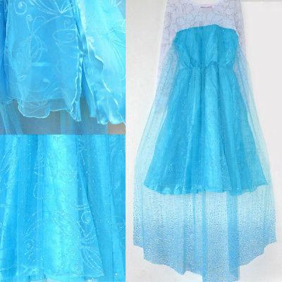 Kids Girls Elsa Blue Anna Dresses Cosplay