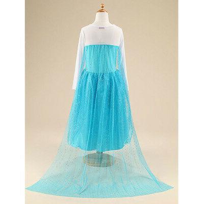 Kids Girls Elsa Blue Costume Princess Anna