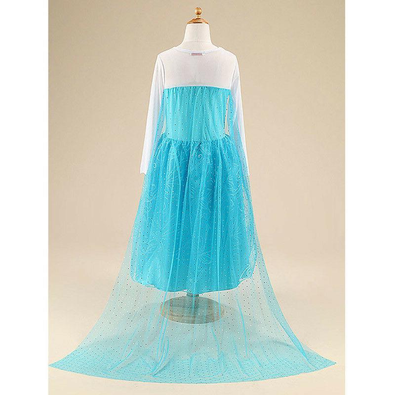 Kids Blue Costume Princess Anna