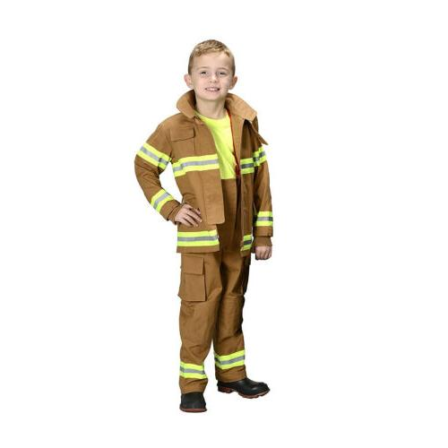 Aeromax Jr. Child Fire Fighter Suit Tan, Boys Costume
