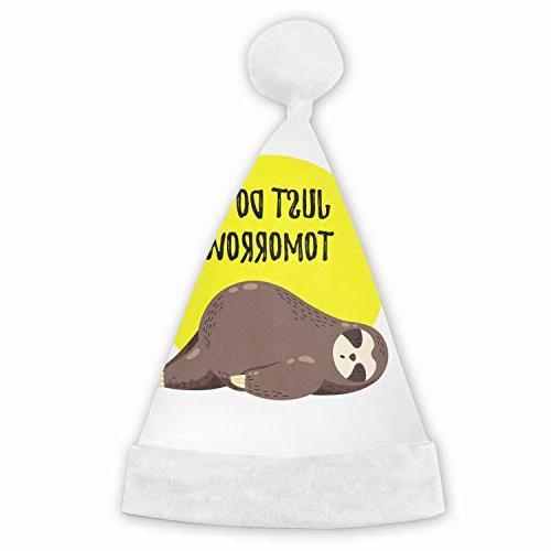 just tomorrow sloth christmas santa