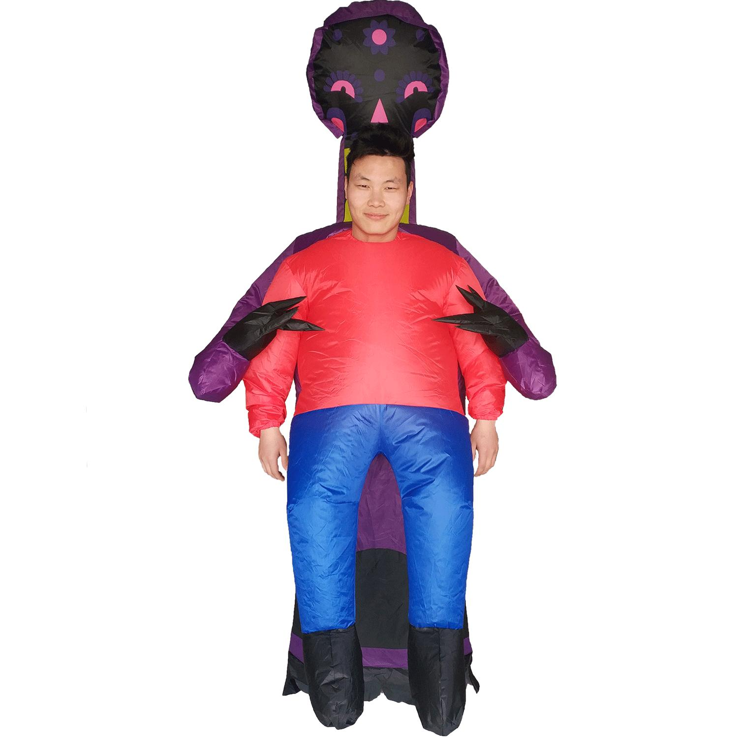 Kids Adults Inflatable Costume Halloween Party Devil Carnival