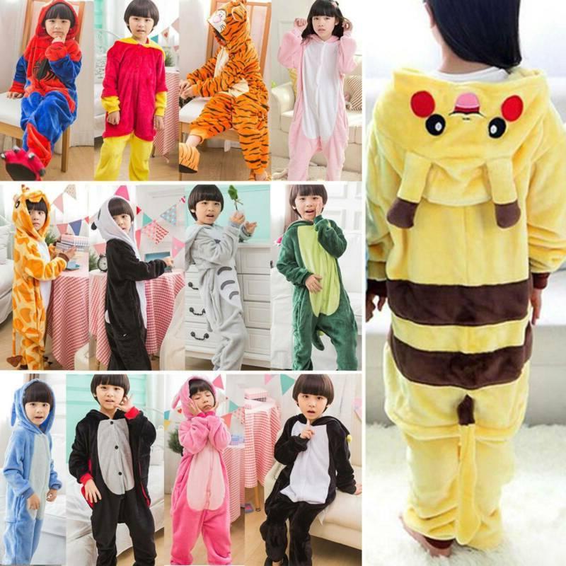 kids animal kigurumi costume cospaly boy girl
