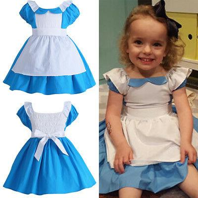 Kids Baby Alice in Wonderland Halloween Fancy Dress