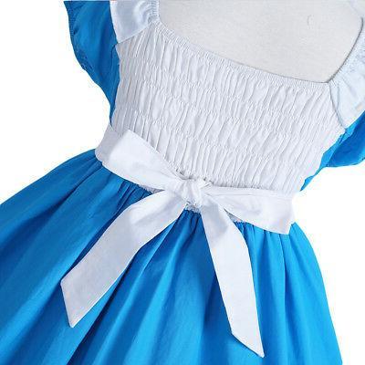 Kids Girls Alice in Costume Halloween Fancy Dress