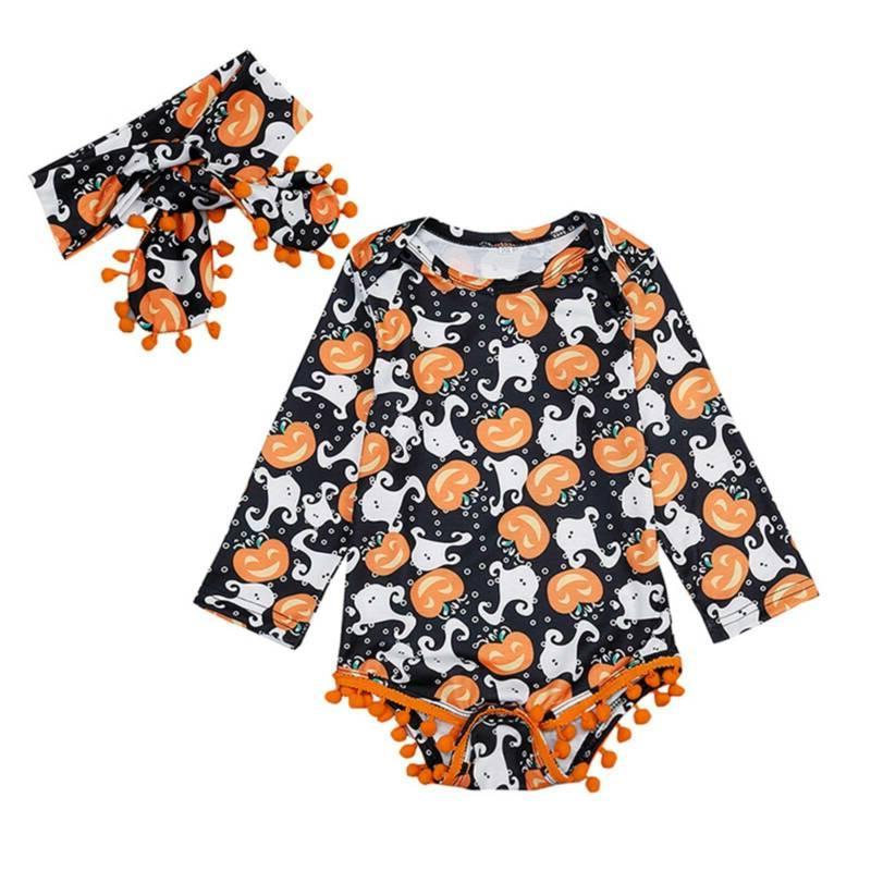 kids baby infant halloween party costume pumpkin
