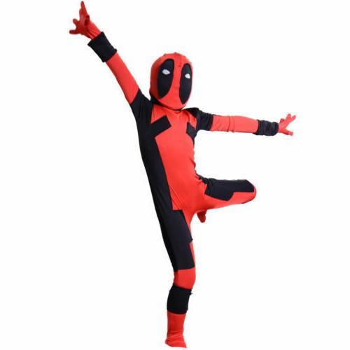 Kids Boys Child Zentai Superhero Costume Fancy Dress