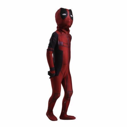 Kids Child Deadpool Zentai Fancy