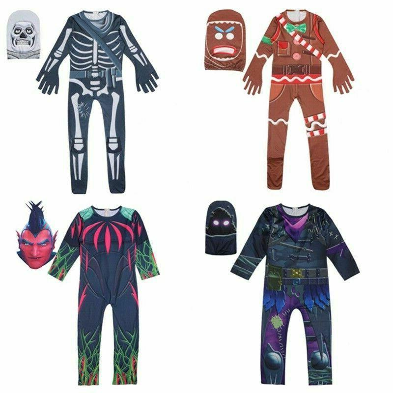 kids boys fortnite costume cosplay halloween fancy