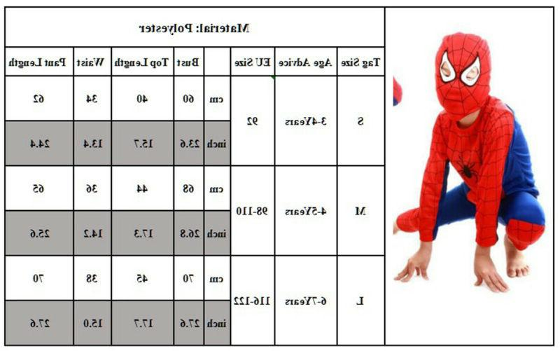 US Spiderman Costume Fancy Outfit