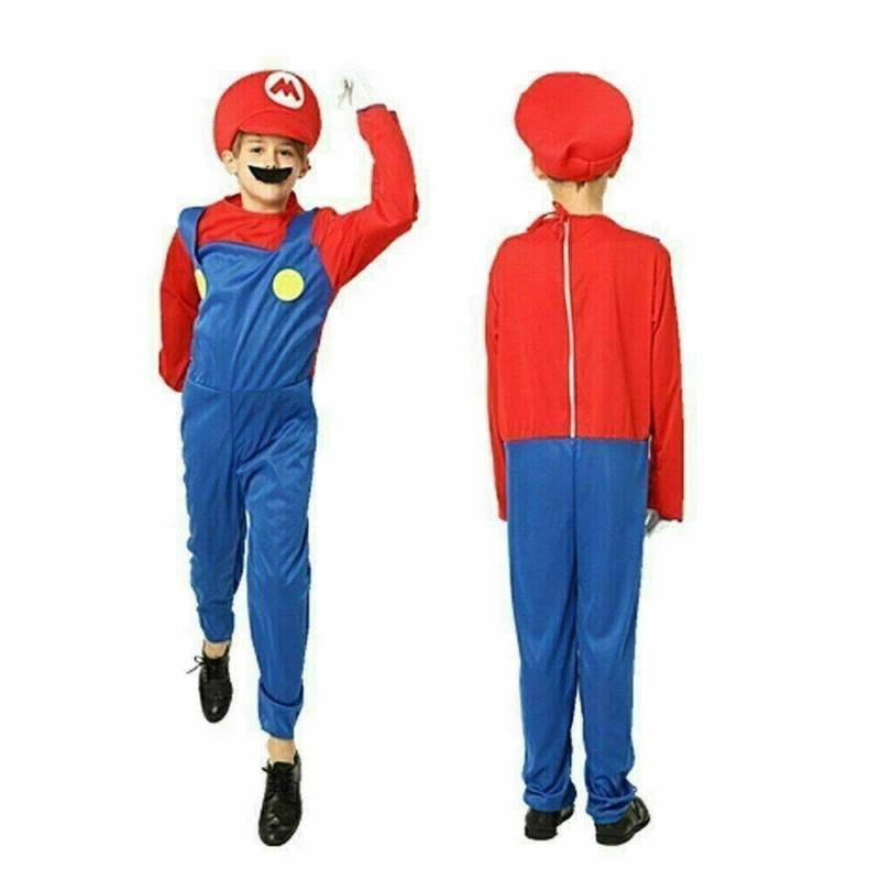 Kids Luigi Costume Suit