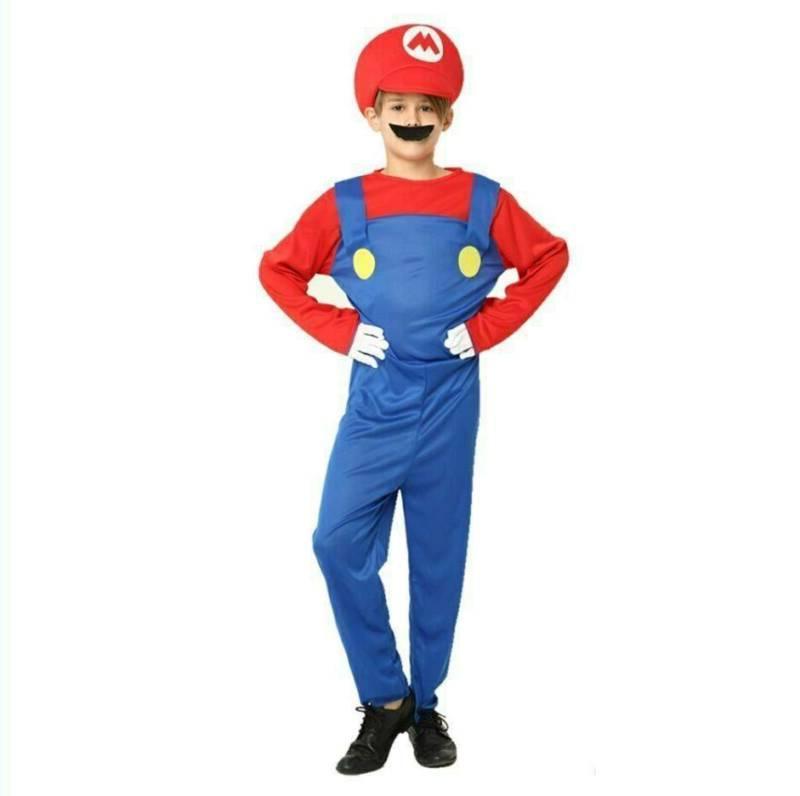 Kids Boys Mario Luigi Costume