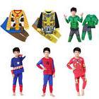 Kids Boys Pajamas Sets Children Sleepwear Superhero Costume