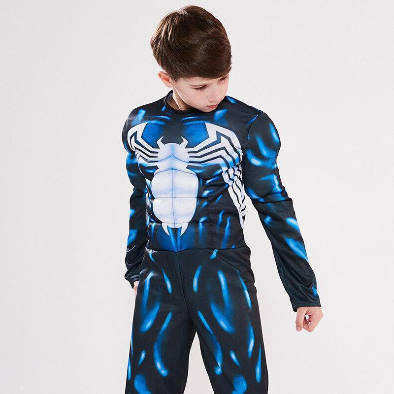 Kids Boys Superhero Cosplay Muscle Fancy Dress
