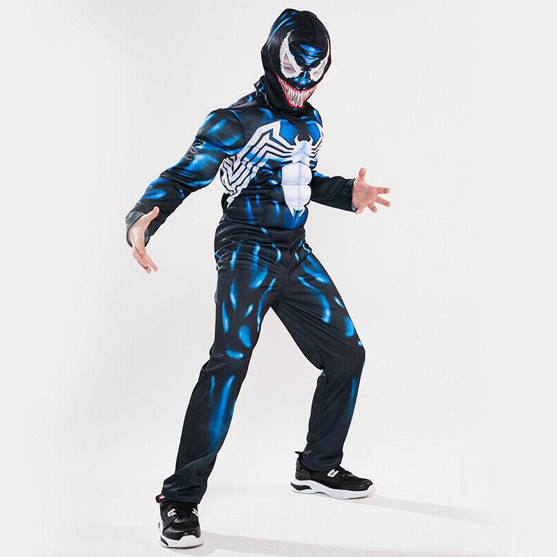 Kids Boys Superhero Cosplay Costume Fancy Dress Suit US