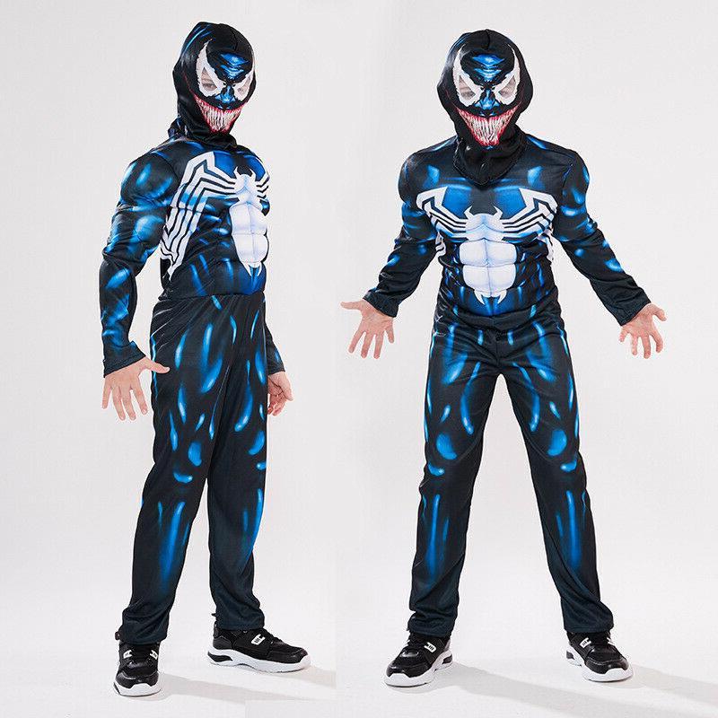 kids boys venom spider man superhero cosplay
