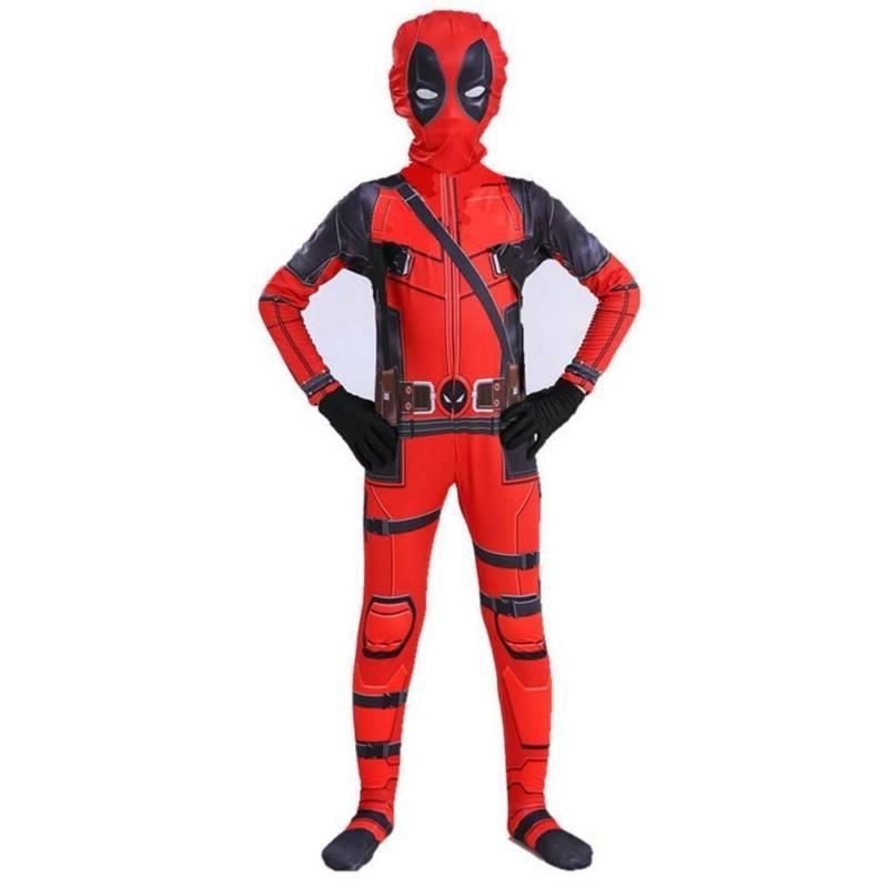 Kids Superhero Deadpool Full Body Party Cosplay