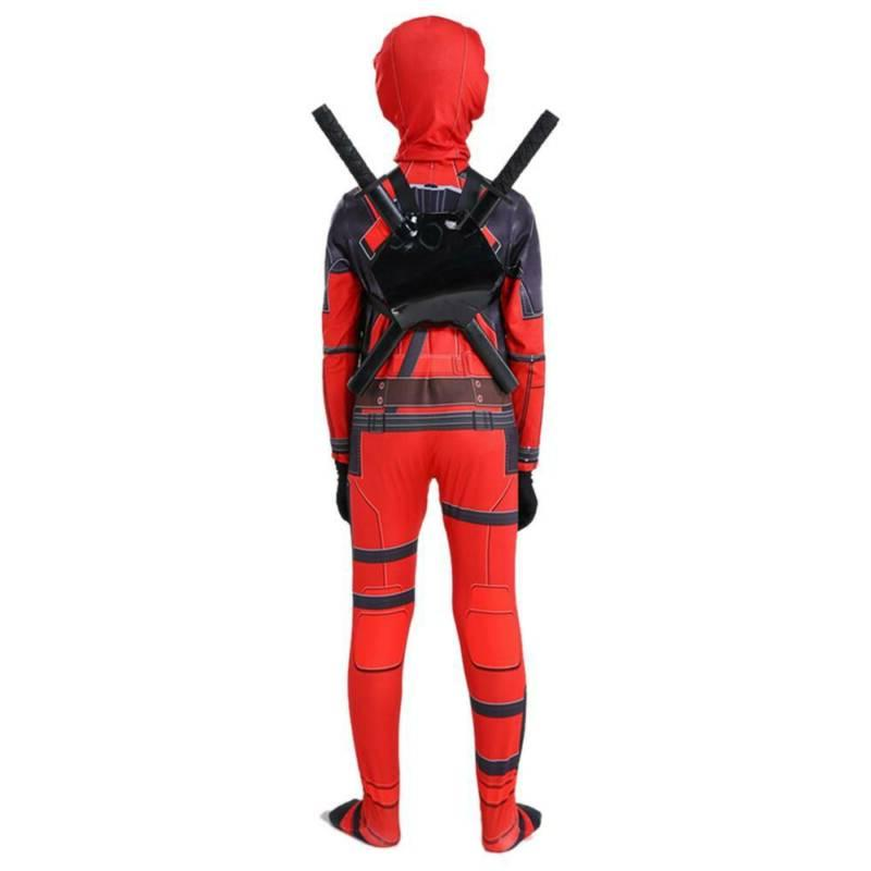Kids Superhero Costume Deadpool Party