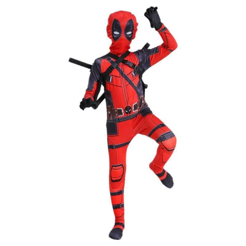 Kids Children's Costume Deadpool Full Party Cosplay