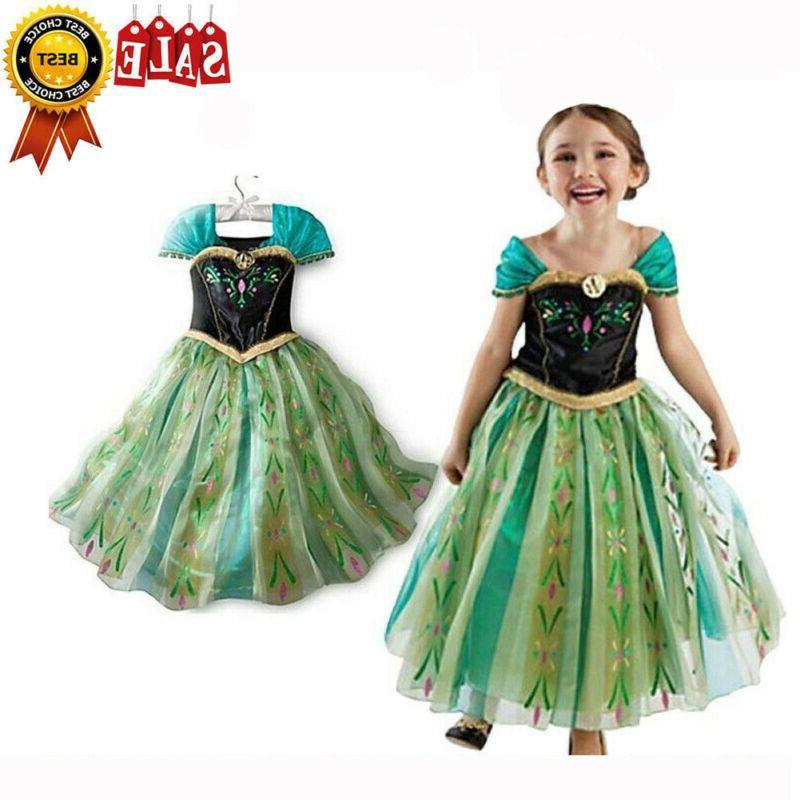 Kids Cinderella Dress Girls Costume Belle Aurora
