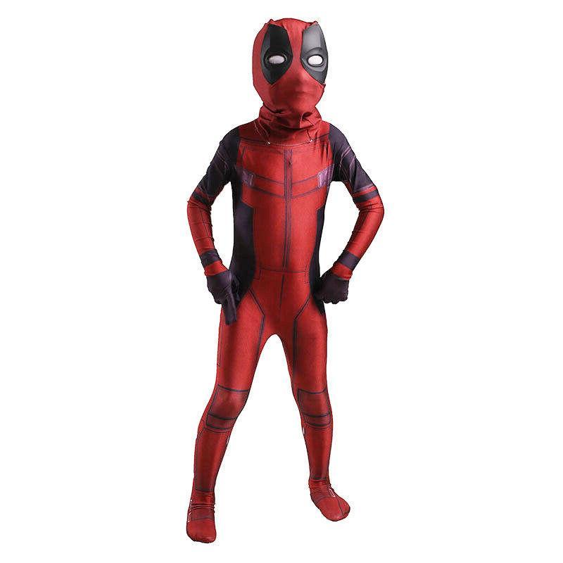 NEW Deadpool Adult //Kids Costume Cosplay Superhero Tights Elastic Lycra Zentai
