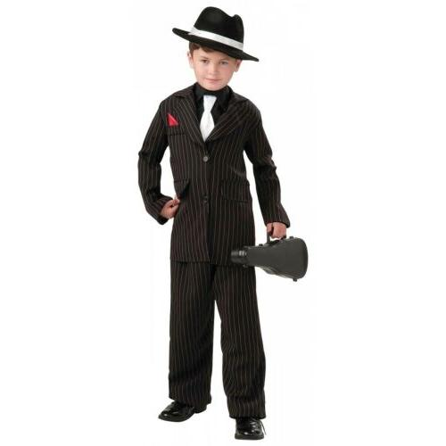 Kids Gangster Costume Roaring 20s Halloween Fancy Dress