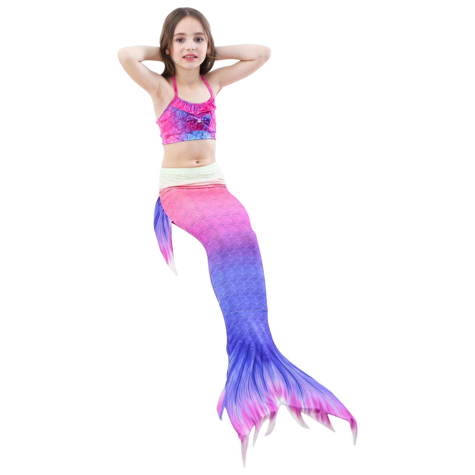 Kids Girl Mermaid Bikini Set - Tail