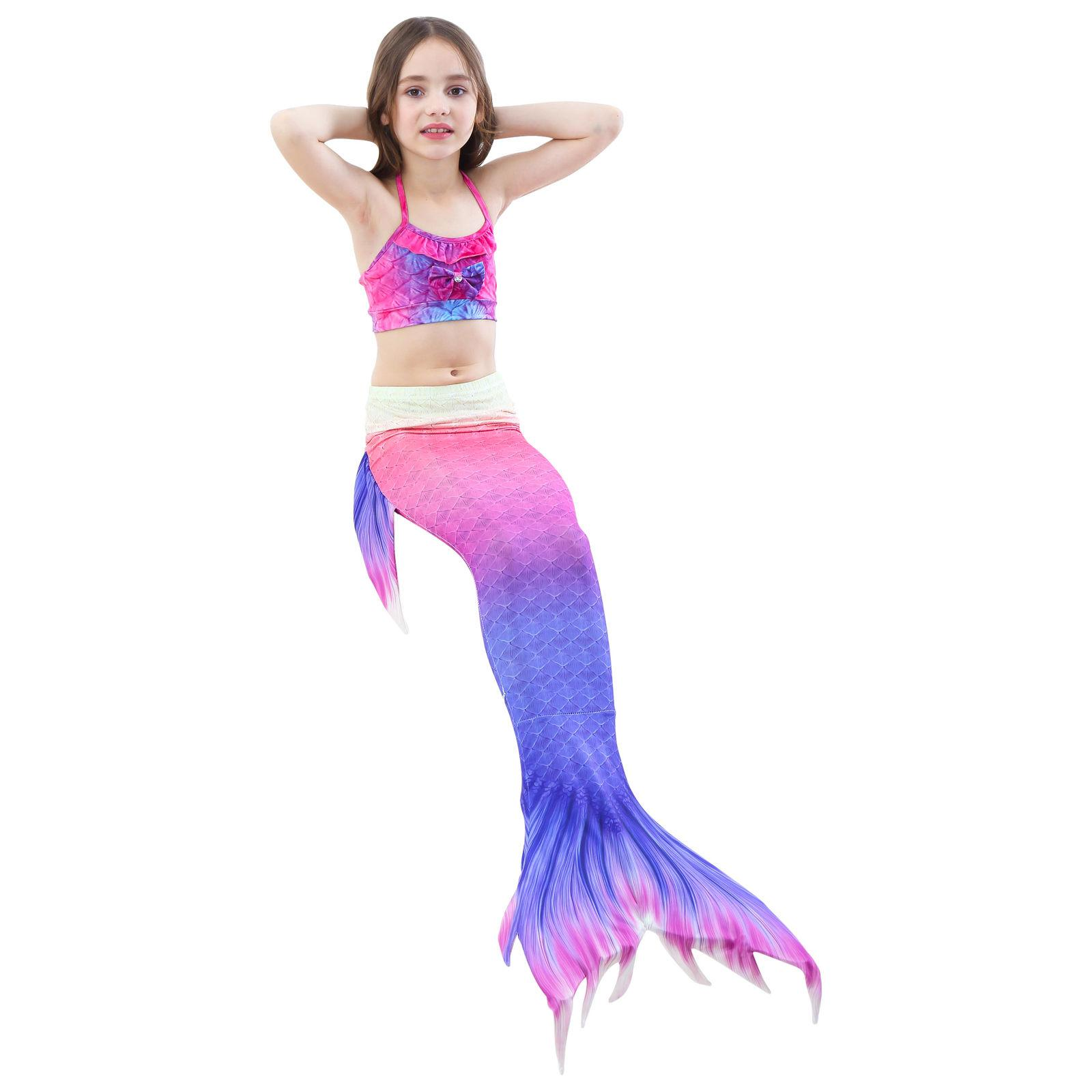 Kids Girl Mermaid Bikini Set - Tail