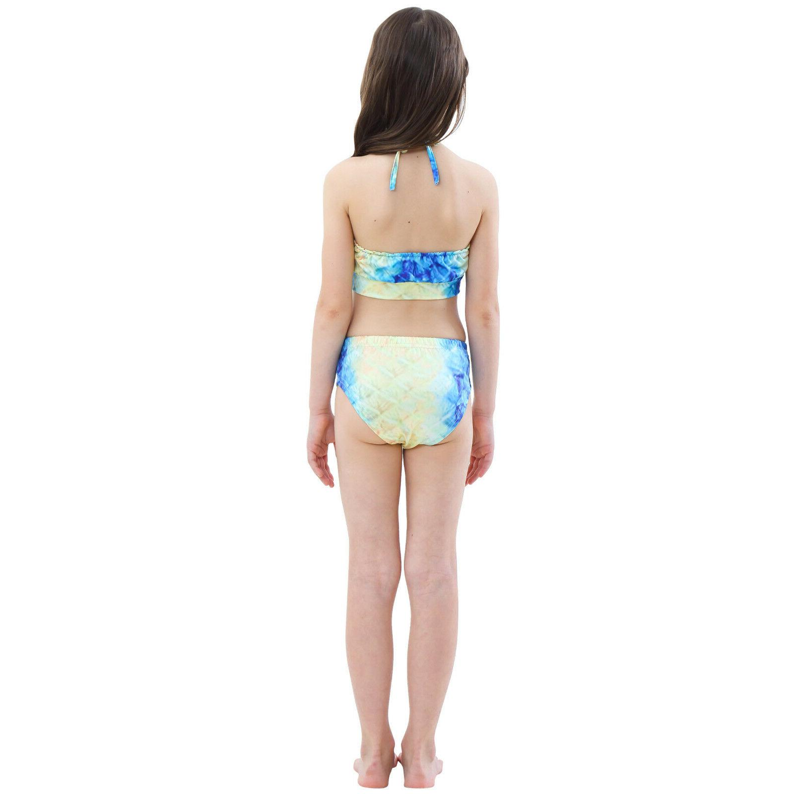 Kids Girl Mermaid Tail Bikini - Tail Swimming