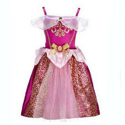 Kids Girls Fairytale Up Cinderella Rapunzel Outfit