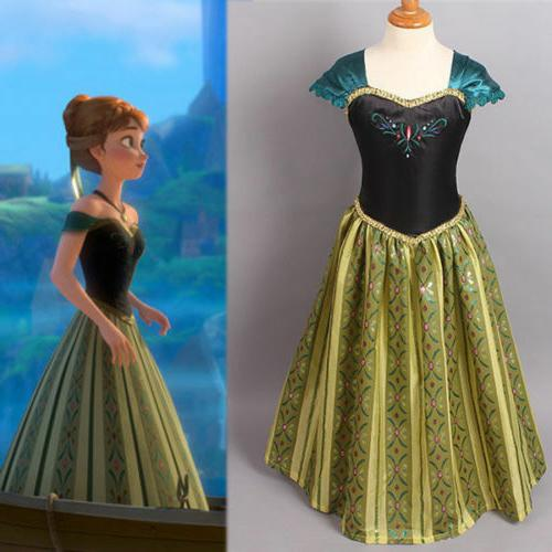 Dress Princess Anna Party Dresses Cosplay US
