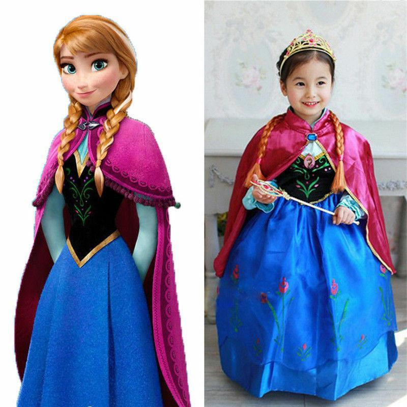 Kids Elsa Dress Costume Party US