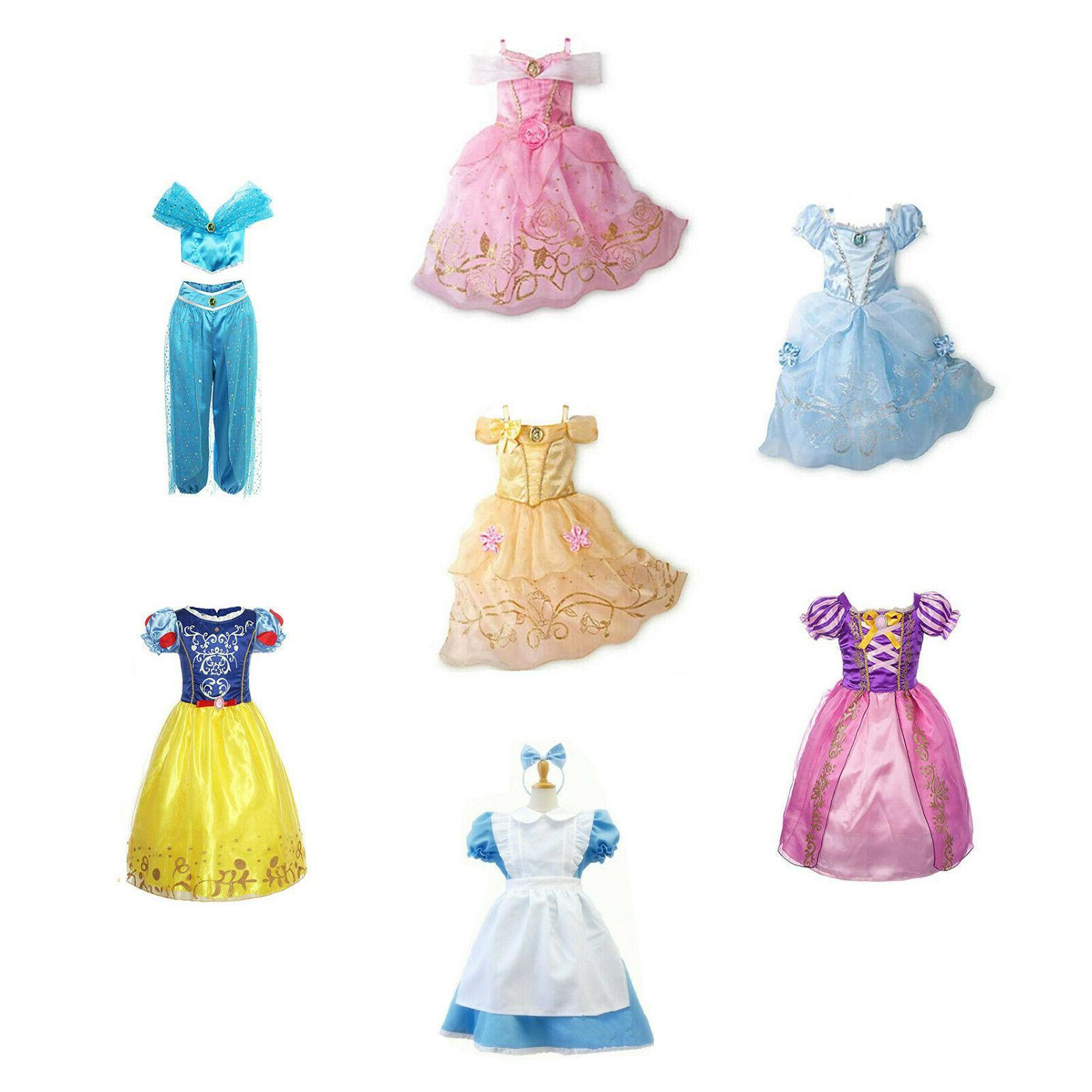 kids girls christmas costume princess fairytale dress