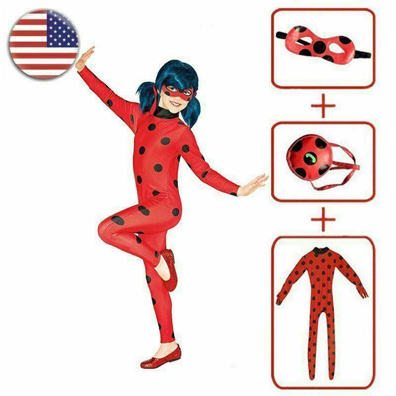 Kids Ladybug Cosplay Costume /
