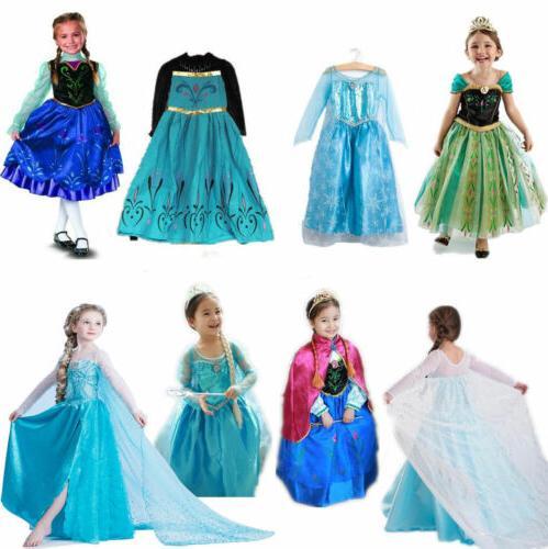 Kids Frozen Princess Dress Anna Party Lot