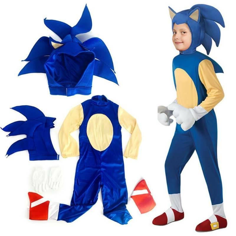 Kids Halloween Cosplay The Hedgehog Party Set