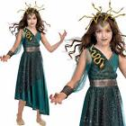 Kids Medusa Costume Halloween Fancy Dress Greek Myth 6-12 Ye