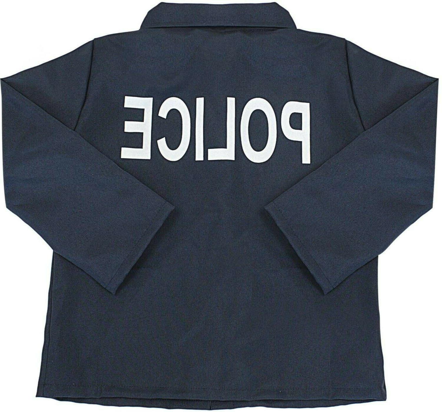 Kids Police Officer Costume Halloween Cosplay Realistic Set