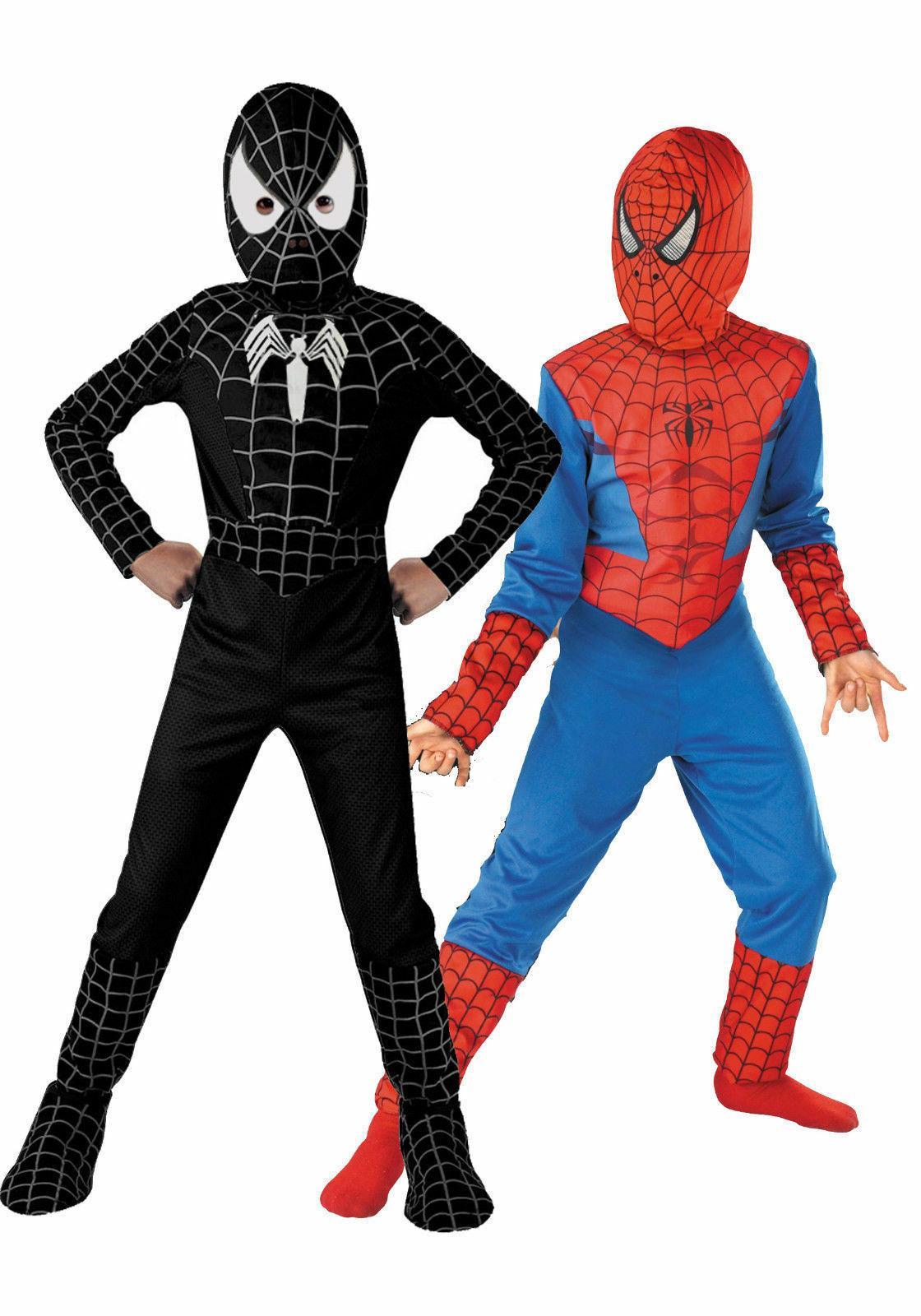 Toddler Baby Kids Boy Spiderman Costume Superhero Cosplay Fa