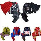 Kids Toddler Boy Superhero Pajamas Sleepwear Tracksuit T-shi