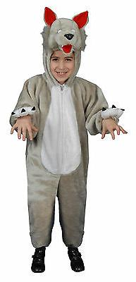little kids plush wolf costume by