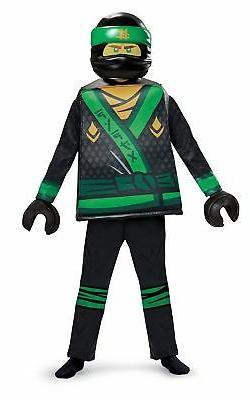 Disguise Lloyd Lego Ninjago Movie Deluxe Costume, Green, Lar