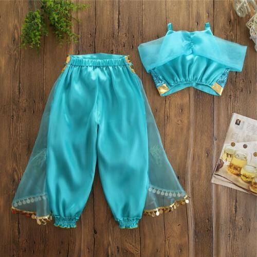 Aladdin Jasmine Baby Kid Dress Up Costume Sets