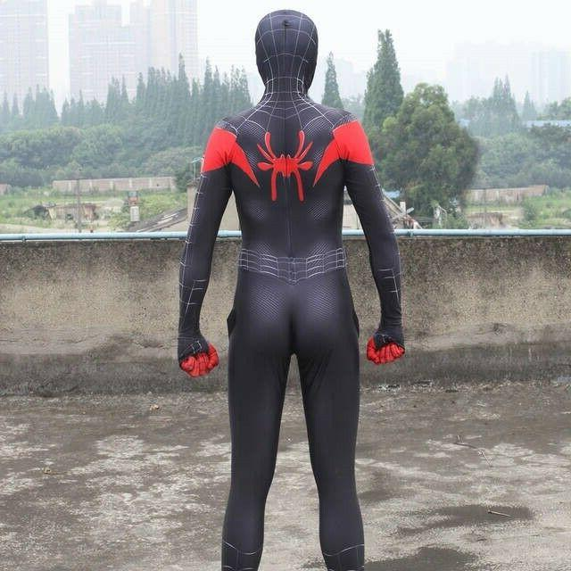 Miles Morales Spider-Man Costume Jumpsuits Teen